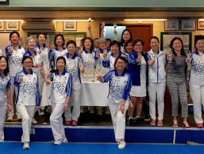 Champagne Celebration at HKFC Last Game Ladies Triples League 2017