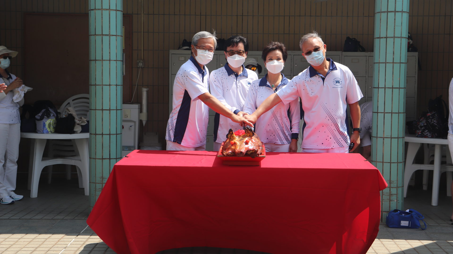 Pig Cutting Ceremony with Mini League 2021